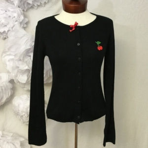 Vintage 90's Rockabilly Girl Cardigan *SIZE NOTE**